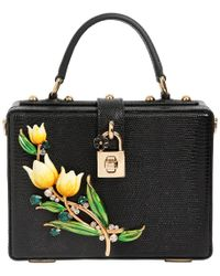 Dolce & Gabbana - Tulips Embossed Leather Dolce Box Bag - Lyst