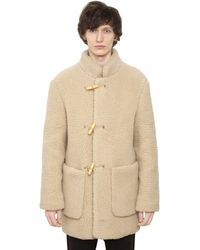 Christophe Lemaire - Wool Blend Shearling Effect Coat - Lyst