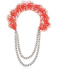 Alienina   Altrove Brass And Nylon Chain Necklace   Lyst