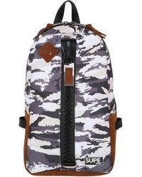 Supe Design - Camouflage Day Nylon Bag W/ Zip - Lyst