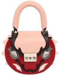 Salar | Mimi Marie Floral Patch Leather Shoulder Bag | Lyst