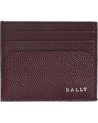 Bally - Logo Detail Leather Card Holder - Lyst