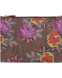Etro - Paisley Printed Coated Canvas Pouch - Lyst