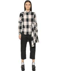 MM6 by Maison Martin Margiela - Light Check Cotton Viscose Twill Shirt - Lyst