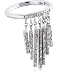 Nina Ricci - Fringe Ring With Crystals - Lyst