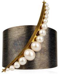 Katerina Psoma - Pearl Cuff Bracelet - Lyst