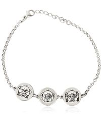 Gfase - Monkey Emoji Silver Bracelet - Lyst