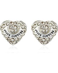 Juicy Couture - Embellished Heart Stud Earrings - Lyst