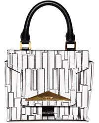 Vionnet - Printed Leather Top Handle Bag - Lyst