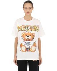 Moschino - Camiseta Oversize De Jersey De Algodón Estampada - Lyst