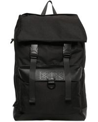 KTZ - Leather & Techno Canvas Backpack - Lyst