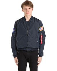 Alpha Industries Ma-1 Tt Nasa Reversible Bomber Jacket in Blue for ... 41bf385c7f5