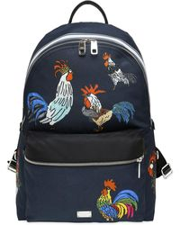 Dolce & Gabbana - Rooster Printed Nylon Backpack - Lyst