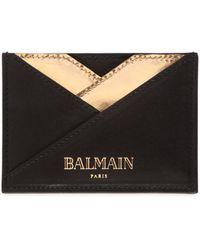 Balmain - Geometric Leather Card Holder - Lyst