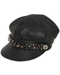 COACH - Star Dust Studded Leather Biker Hat - Lyst