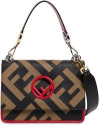 Fendi - Medium Kan I Logo Patchwork Leather Bag - Lyst