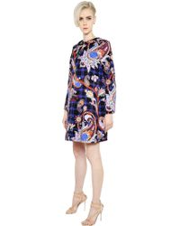 Mary Katrantzou - Paisley Printed Cotton Twill Coat - Lyst