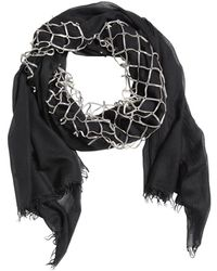 Cutuli Cult - Modal Cotton Scarf With Leather Net - Lyst