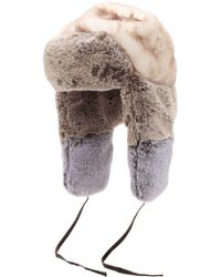 Kangol - Patchwork Faux Fur Trapper Hat - Lyst