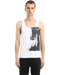 CALVIN KLEIN 205W39NYC - Electric Chair Cotton Jersey Tank Top - Lyst