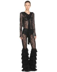Faith Connexion - Low Back Stretch Lace Hooded Jumpsuit - Lyst