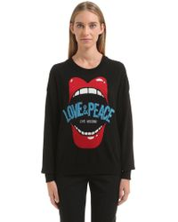 Love Moschino | Love & Peace Jacquard Knit Sweater | Lyst