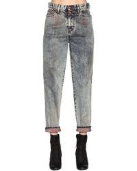 DIESEL - Marble Washed Cotton Denim Jeans - Lyst