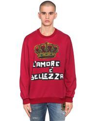 Dolce & Gabbana - Crown Printed Jersey Jumper - Lyst