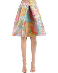Boutique Moschino - Floral Jacquard Skirt - Lyst