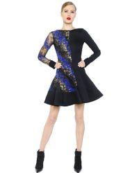 Antonio Berardi - Flocked Lace & Cady Dress - Lyst