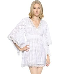 Talitha - Cotton Crocheted Lace Dress - Lyst
