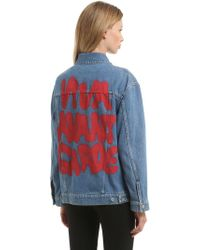 Jeremy Scott - 20th Anniversary Oversize Denim Jacket - Lyst