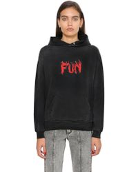 Givenchy | Fun Printed Hooded Cotton Sweatshirt | Lyst