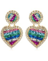Shourouk - Mini Marilyn Rainbow Clip-on Earrings - Lyst