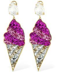 Shourouk - Glitter & Swarovski Gelato Earrings - Lyst