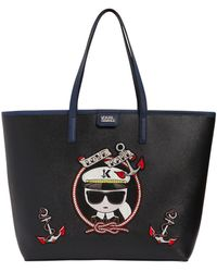 Karl Lagerfeld - Captain Karl Faux Leather Tote Bag - Lyst