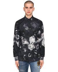 Dolce & Gabbana - Gold Fit Floral Cotton Poplin Shirt - Lyst