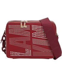 Lanvin - Logo Perforated Shoulder Bag - Lyst