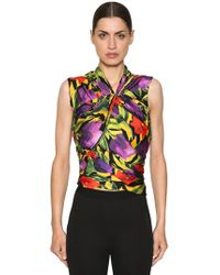 Balenciaga - Top De Jersey Stretch Con Estampado - Lyst