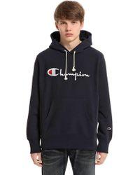 Champion - Sweatshirt Aus Baumwolle Mit Kapuze Und Logo - Lyst