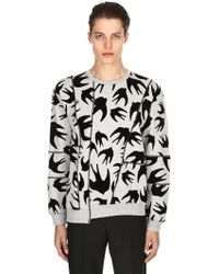 McQ - Swallows Patchwork Jersey Sweatshirt - Lyst