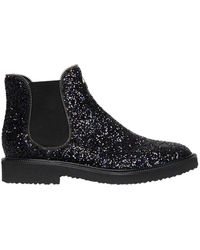 Giuseppe Zanotti - Glittered Chelsea Boots With Zipper Trim - Lyst