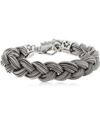 Emanuele Bicocchi - Braided Silver Chain Bracelet - Lyst