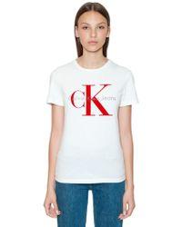 Calvin Klein - Camiseta De Algodón Con Logo - Lyst