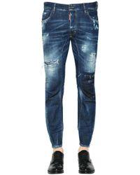 DSquared² - Jeans En Denim Déchiré Coupe Tidy Biker 17cm - Lyst