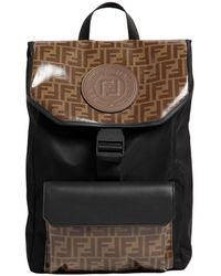 Fendi - Logo Print Nylon Backpack - Lyst