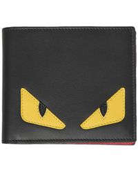 Fendi | Monster Smooth Leather Classic Wallet | Lyst
