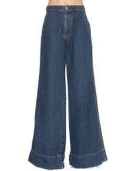 Loewe - Wide Leg Denim Jeans - Lyst