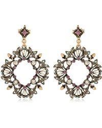 Alcozer & J - Ruby Wreath Earrings - Lyst