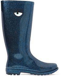 Chiara Ferragni - 20mm Glittered Rubber Rain Boots - Lyst